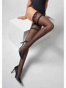 Marilyn COCO T25 чулки на силиконе с надпиью Love you на кружеве