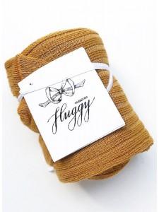 Huggy колготки детские в рубчик (лапша) из хлопка карамель