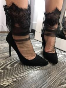 Tulle Socks Wide Lace NK