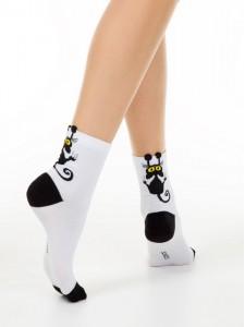"""Conte 17С-183СП хлопковые носки """"черный кот"""""""