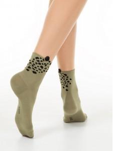 "Conte 17С-183СП хлопковые носки ""леопард"""